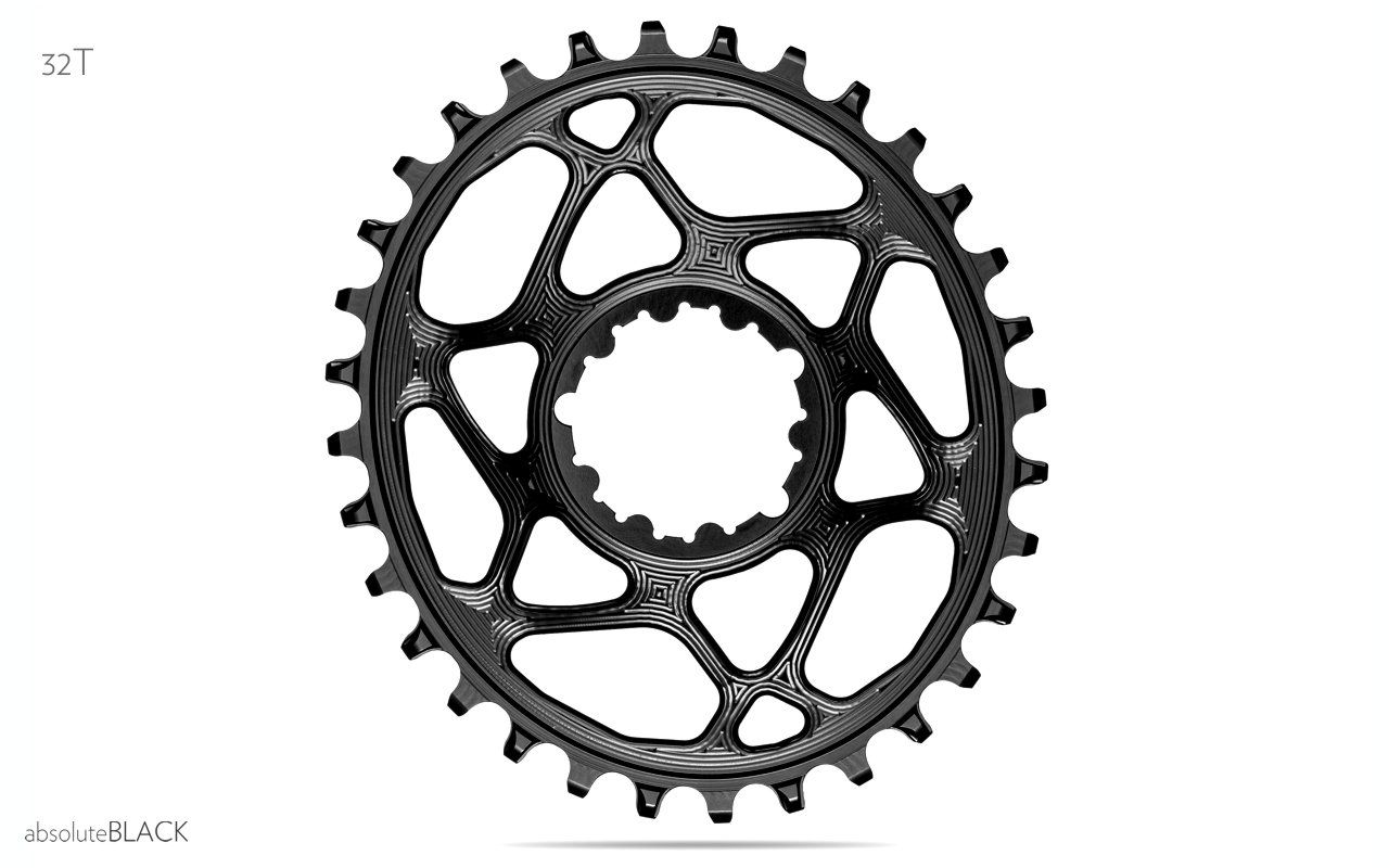 Absolute Black BB30 Oval Direct N//W Chainring Direct Bb30 32t Bk