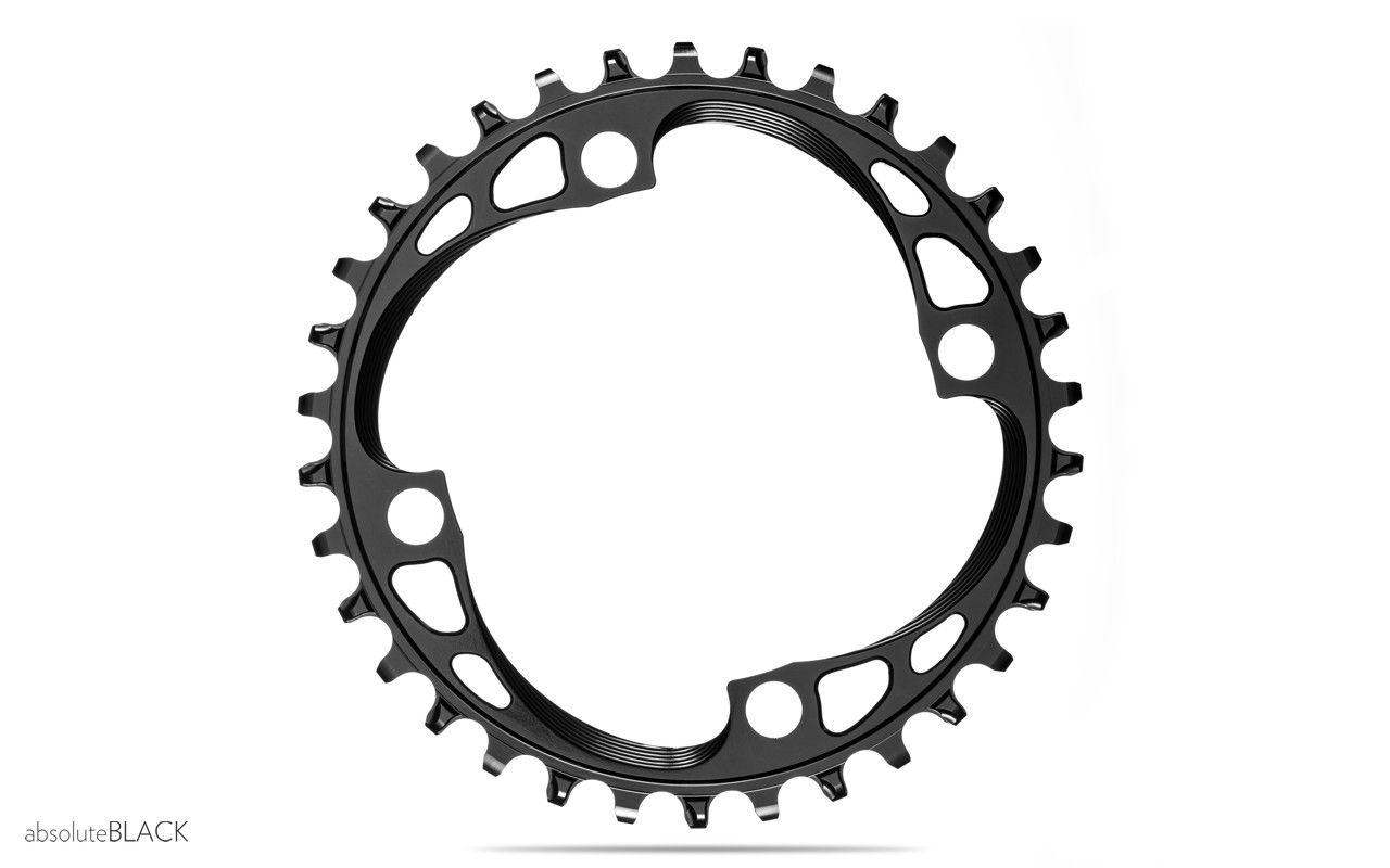 Race Face Narrow//Wide 4-Bolt 104 BCD Chainring 30T Black