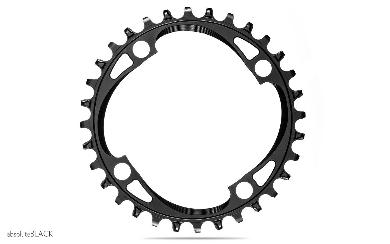 absoluteBLACK XX1 Shimano 64BCD N//W 28T Chainring Black