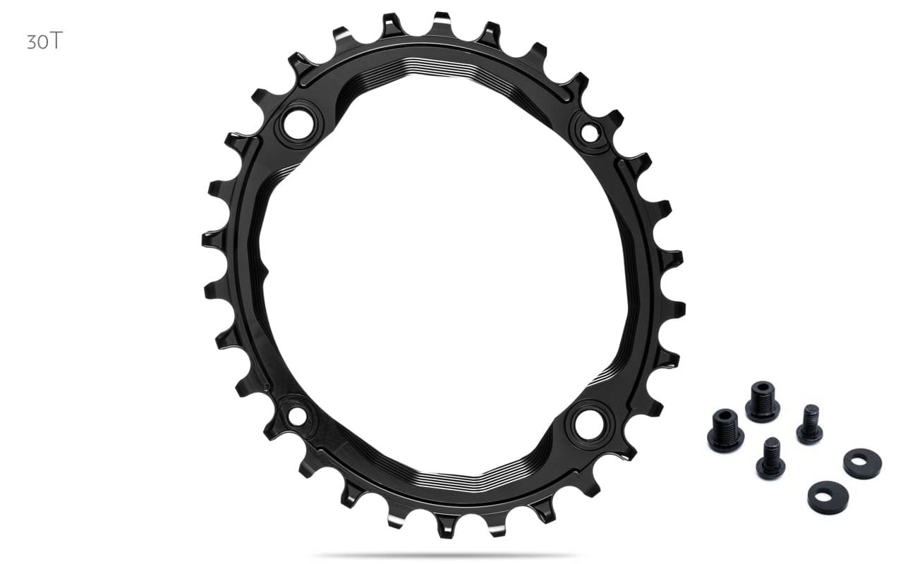Absolute Black Oval 104 BCD N//W Chainring Absoluteblack Oval 104mm 34t 4b Rd