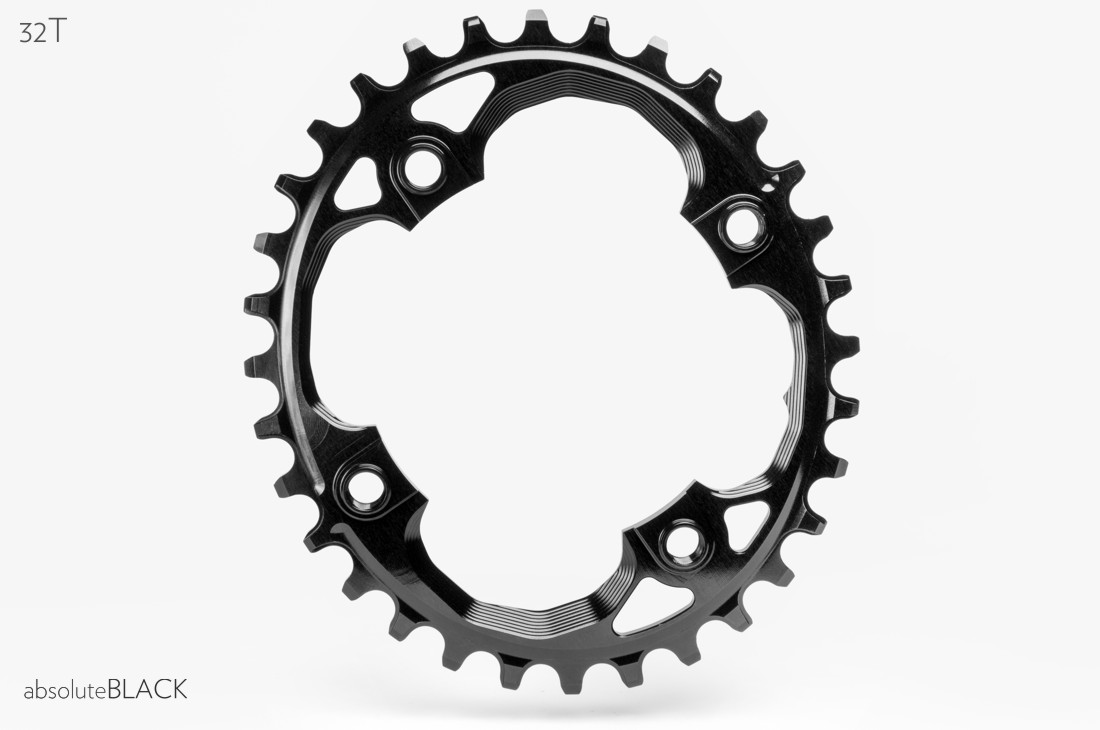 OneUp Components 94 oval chainring 94BCD 30T black