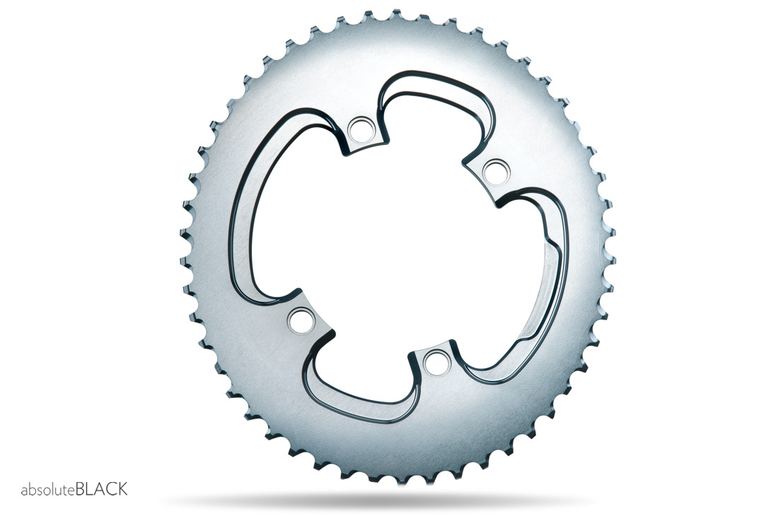 Absoluteblack Winter Road Oval 2x 110 4bcd Chainring