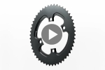 WINTER OVAL ROAD 2X 110/4 BCD chainring