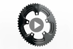 Silver Series OVAL ROAD 2X 110/5 BCD chainring