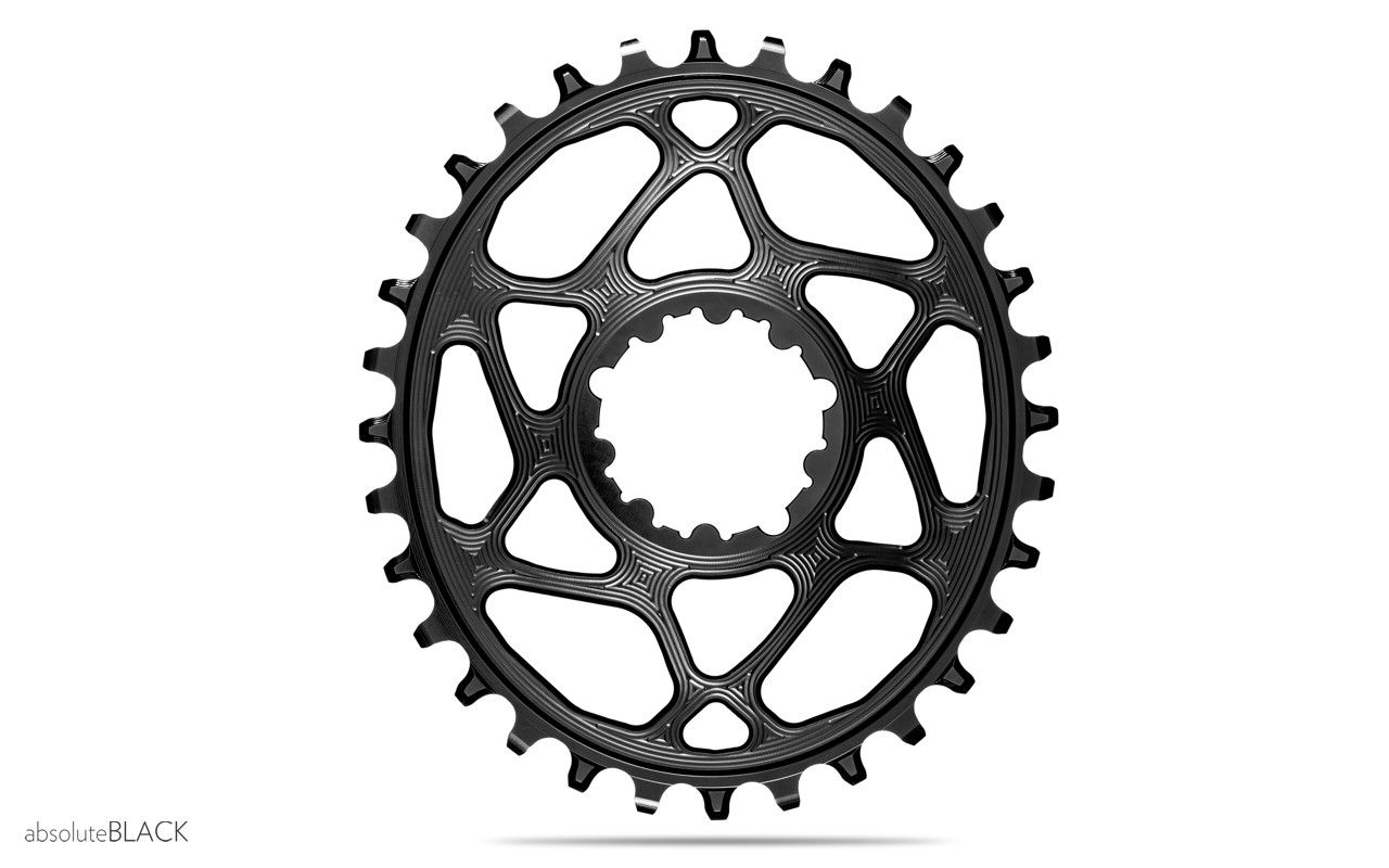 Absolute Black Spiderless GXP Boost//3mm DM Oval chainring 34T