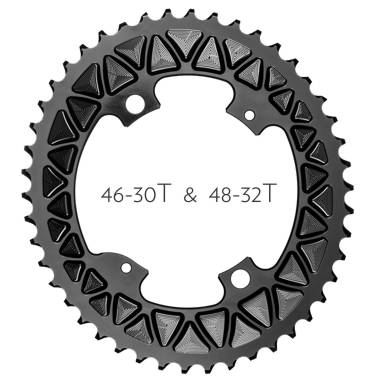 absoluteBLACK 110/4 Sub Compact Oval chainrings