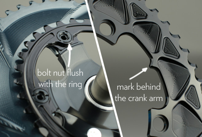 absoluteblack oval chainring mounting instruction. How to mount oval chainring to Dura-ace 7800