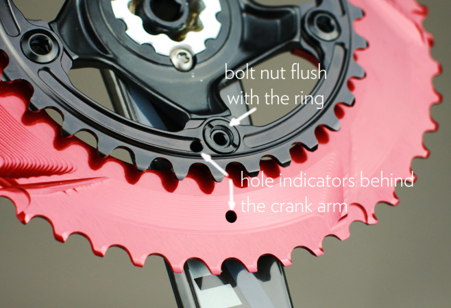 absoluteblack Sram oval chainring mounting instruction. How to mount oval chainring to Sram cranks