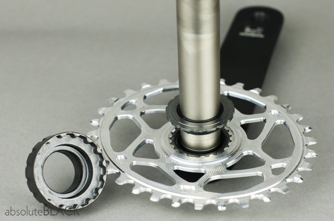 How to mount Absoluteblack oval chainring for XTR M9100
